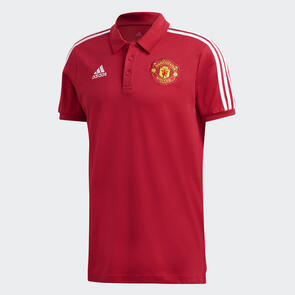 adidas Manchester United 3-Stripe Polo