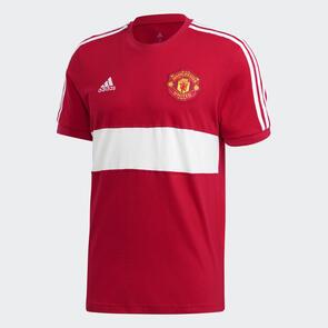 adidas Manchester United 3-Stripe Tee