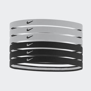 Nike Swoosh Sport Headbands (pack of 6) – Black/White