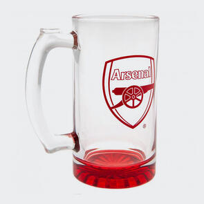Arsenal Club Crest Stein Glass Tankard