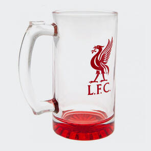 Liverpool Club Crest Stein Glass Tankard