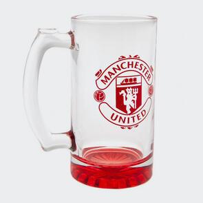 Manchester United Club Crest Stein Glass Tankard