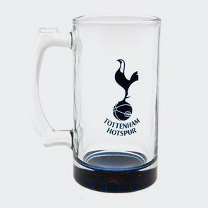 Tottenham Hotspur Club Crest Stein Glass Tankard