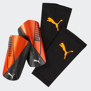 Puma FTBLNXT PRO Flex Sleeve Shin Guards – Orange