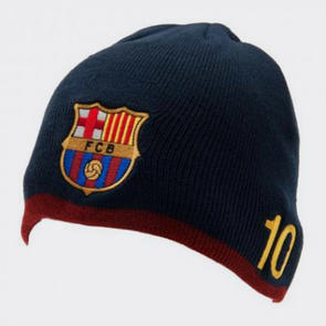 Barcelona Messi Knitted Hat – Navy