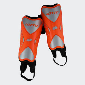 Lotto Marvel 500 Shin Guards – Silver/Orange