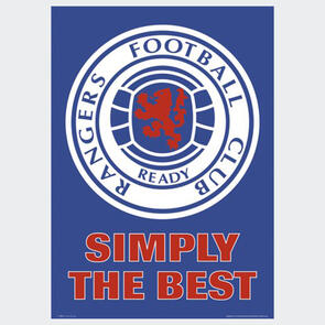Rangers Club Crest Poster
