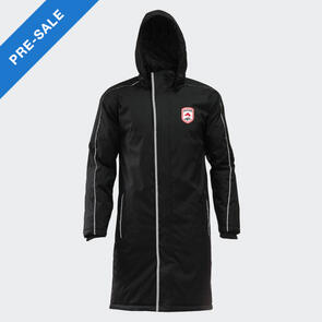 TSS Stratford AFC Long Sideline Jacket – Black