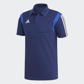 adidas Tiro 19 Cotton Polo – Navy/Bold-Blue/White