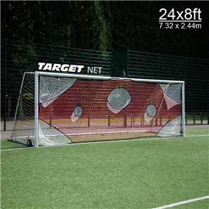 Quickplay Full Size Goal Target Net (7.32m x 2.44m)