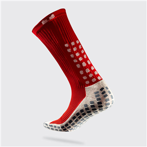 TruSox Mid-Calf Crew Socks – Red