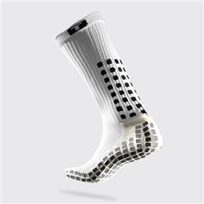 TruSox Mid-Calf Crew Socks – White