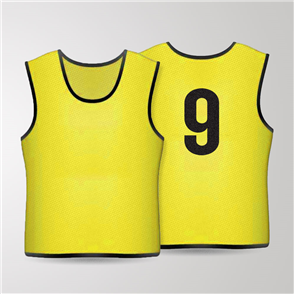TSS 1-11 Numbered Training Bibs Set – Yellow