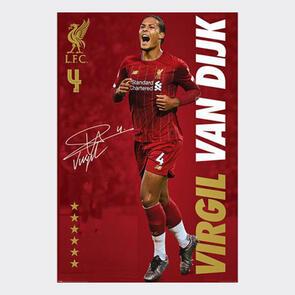 Liverpool Van Dijk Poster 14