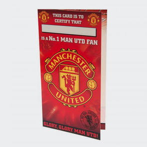 Manchester United No. 1 Fan Birthday Card