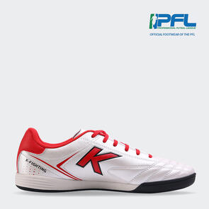 Kelme K Fighting Futsal Shoe – White/Red