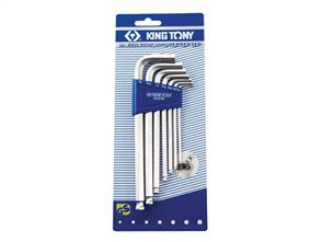 KING TONY KT20107SR Long Ball Hex Key Set 7pc