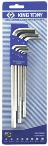 KING TONY ALLEN X LONG METRIC HEX KEY SET KT20208MR