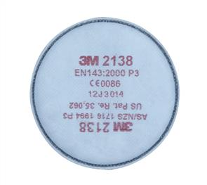 3M 2138 Particulate Filter, High Efficiency Acid Gas GP2/GP3