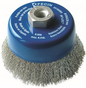 FECIN CW Cup Brush Inox  60mmx M14 0,30