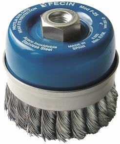 FECIN TK Cup Brush Inox 125mm x M14 0,50