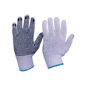 Cotton Knit Gloves Large PVC Dots 651009-L
