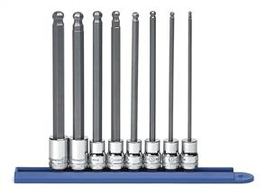 "GEARWRENCH 80573 3/8""DR L/BALL HEX BIT SOCKET SET 3-10mm"