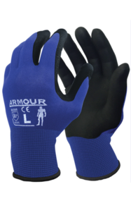 ARMOUR BLACK FOAM NITRILE GLOVE LARGE