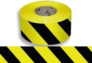 SAFETY YB10075 Barricade Tape Yellow / Black 75mmx 100m