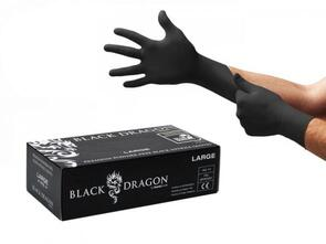 BLACK DRAGON NTB Nitrile Gloves P/Free Black (XL) 100pk