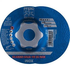 PFERD Combiclick Solid Grinding Disc 115 SG Inox