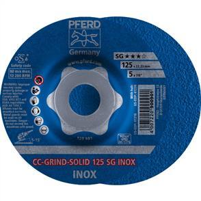 PFERD Combiclick Solid Grinding Disc 125 SG Inox