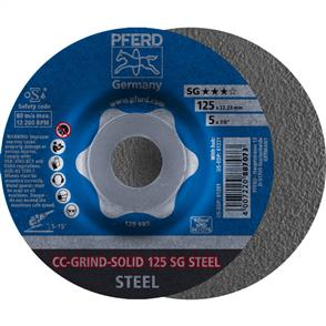 PFERD Combiclick Solid Grinding Disc 125 SG Steel