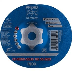 PFERD Combiclick Solid Grinding Disc 180 SG Inox
