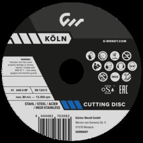 G.WENDT Inox Cut Off Disc 178x1.5mm A46U-BF  (270314)