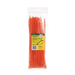 TRIDON Cable Tie 305x 4.8 Orange (100)