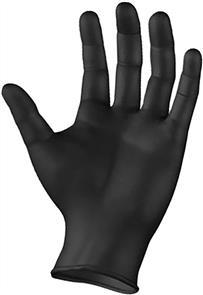 ARMOUR Nitrile Goves 100pk Black (M)