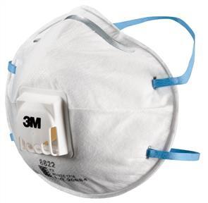 3M 8822 Dust Mask/Respirator P2 (10)