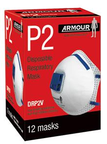 ARMOUR FACE MASK DRP2FM VALVED P2 Box12