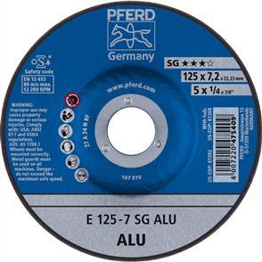 PFERD Aluminium D/C Grinding Disc E 125x7.0 A24 NSG