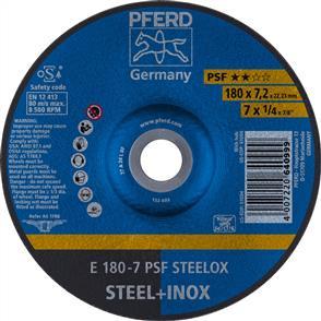PFERD Inox D/C Grinding Disc E 178x7.0mm A24 LPSF