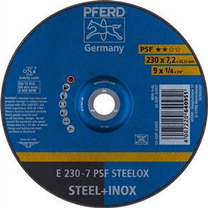 PFERD Inox D/C Grinding Disc E 230x7.0mm A24 LPSF