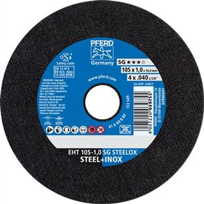 PFERD Inox Cut Off Disc EHT 100x1.0mm A60 RSG/SG