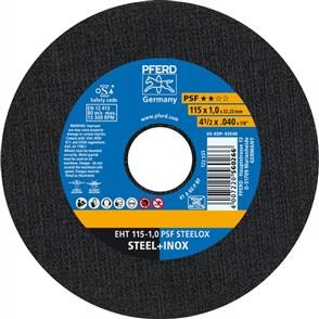 PFERD Inox Cut Off Disc EHT 115x1.0mm A60 PPSF