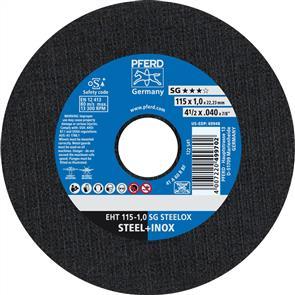 PFERD Inox Cut Off Disc EHT 115x1.0mm A60 RSG/SG