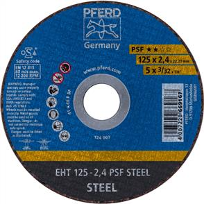PFERD General Purpose Cut Off Disc EHT 125x2.4mm A46 PPSF