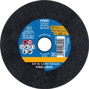 PFERD Inox  Cut Off Disc 80EHT 76x1.1x10mm A 60 PPSF