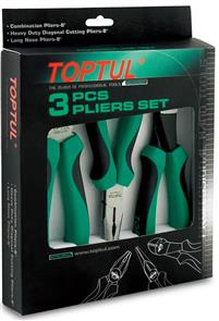 "TOPTUL  8"" PLIER SET 3PC"