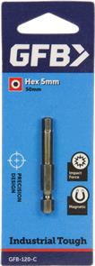 GFB #120 HEX HD Screw Driver Bit 5mm 50mm