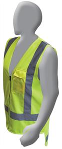 ARMOUR HI VIS Fluro Yellow Day/Night Vest (Large)